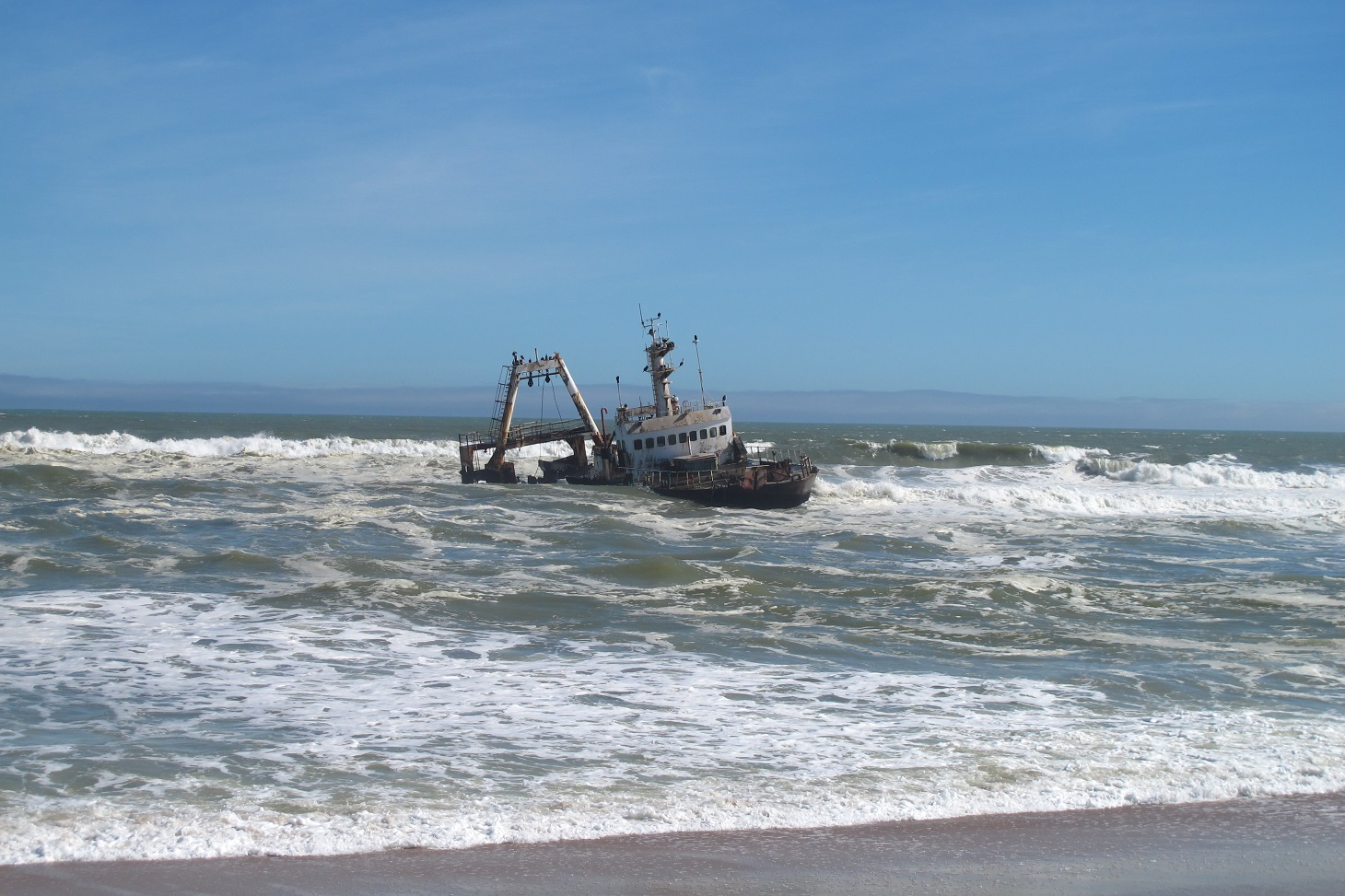 barco hundido cerca de Cape Cross