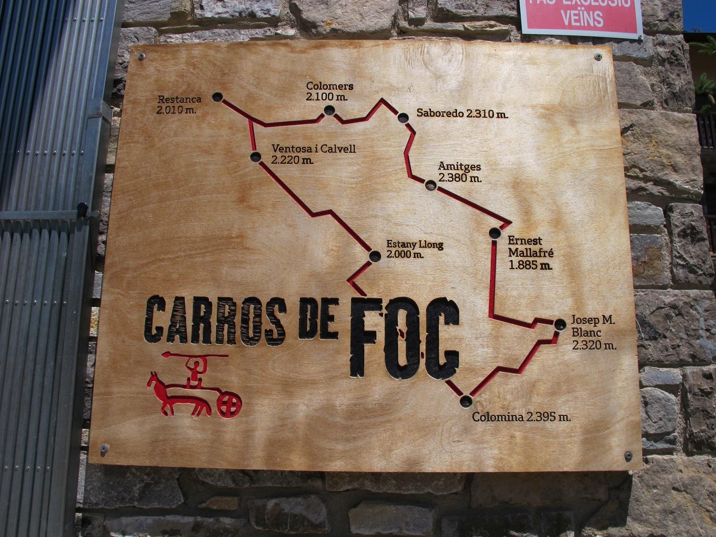 Itinerario Carros de Foc