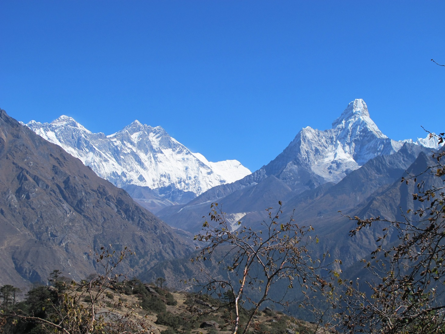 Vistas al Ama Dablam y Everest desde el Hotel Everest View